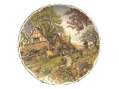 Dream Cottages Spring Decorative Plate By Peter Riverford • 2.46£