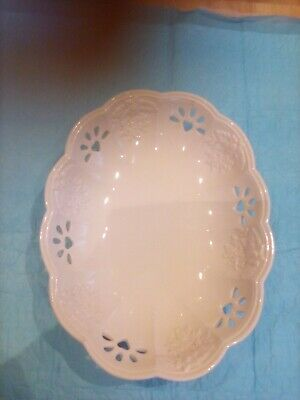 St Michael Florentine Fine Earthenware 2233 Lattice China Dish Just Reduced • 4£