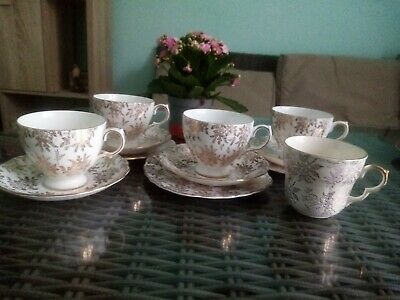 JOBLOT Royal Vale Gold Floral Chintz Gilt Cups Saucers PLATES 1 Extra Bell Cup • 10.95£