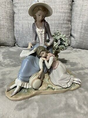 Lladro #5085  Woman And Sleeping Girl  Book Large Figurine As Is • 26£