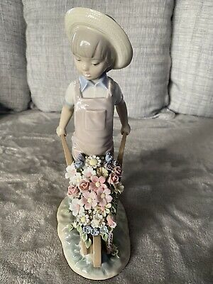 Lladro Wheelbarrow With Flowers 1283 RETIRED Mint Condition • 45£