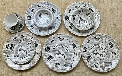 Vintage Ridgway Homemaker Pottery Crockery - A Selection Of Plates And Bowls • 40£
