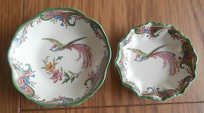 Minton Anthea Pattern 1930's Hand Painted - 2 Small Trays / Bowls  • 29.99£