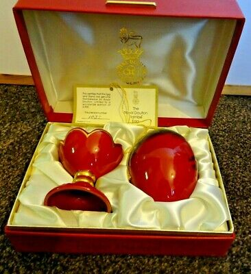 Royal Doulton Flambe Egg And Stand In Beautiful Presentation Box • 105£