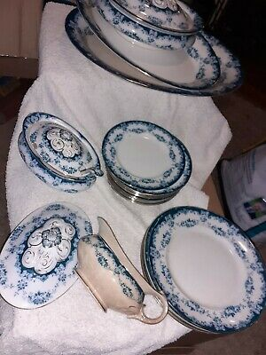 Vintage Albion Pottery 'garland'  Blue & White Collectable Items • 1.50£