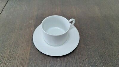 M&S Maxim Cups And Saucers X 8 White Porcelain • 30£