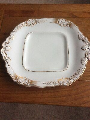 Square White/gilt Bread & Butter Plate..unbranded • 0.99£