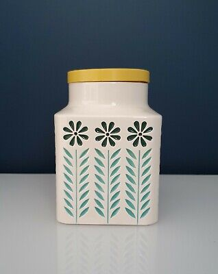 Vintage Hornsea Pottery Springtime Medium Storage Jar Canister With Yellow Lid.  • 20£
