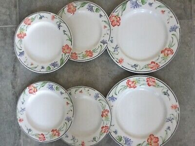 Churchill China Floral Super Vitrified Plates Dinner Salad Hotel Quality X 6 • 11.99£