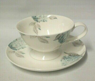 Laura Ashley Home Blue Hydrangea Duck Egg Tea For One Cup And Saucer Set [Marl) • 4.99£