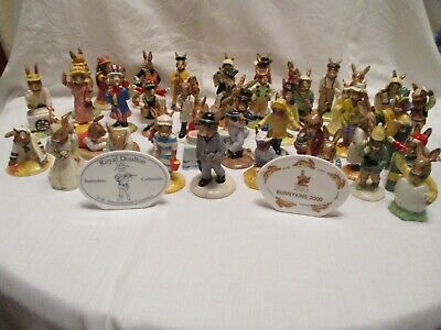 55 Royal Doulton Bunnykins Mostly Boxed Perfect Condition • 360£