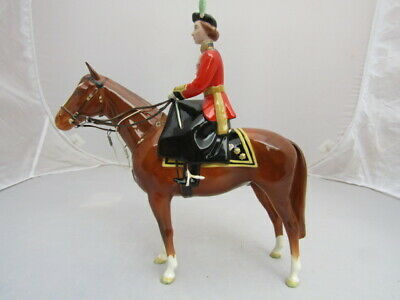 Beswick H.M.QUEEN ELIZABETH 11 ON IMPERIAL Model 1546  Issued 1958-81 Perfect • 260£
