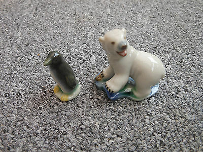 Wade Pottery 1950s Whimsies Penguin And Polar Bear • 22£