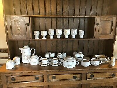 Immaculate 50 Pieces Denby Whisper Casserole Dish Tea Coffee Dinner Goblets Set • 75£