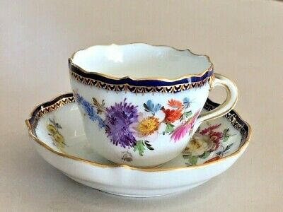 Meissen Cup & Saucer - Twisted Handle  • 69.99£