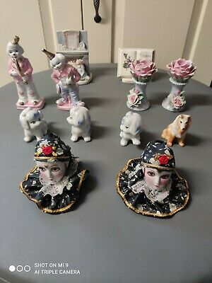 Vintage Set Of 12 Rare Collectable Antique Porcelain Figurines Ornaments 30 Year • 19.99£