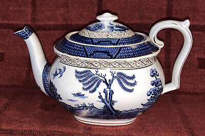 Booths Silicon China Real Old Willow Teapot • 20£