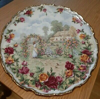 Royal Albert A Celebration Of The Old Country Roses Garden Plate 1986 • 12£