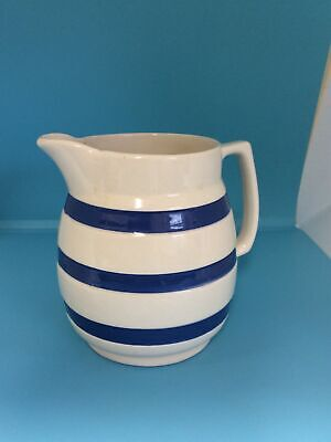 "Staffordshire Ironstone Jug. Blue And White 5.5"" H. Some Wear On Base(lf) • 2.99£"