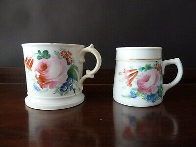 Antique  Cup Mug And Tankard Handpainted Flowers & Leaves  • 19£