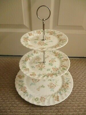 Wedgwood Cottage Rose 3 Tier Cake Stand  • 22£