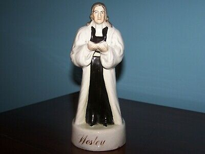 Antique Staffordshire Pottery, Figure Of Wesley.  • 39.95£