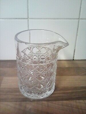 Vintage Clear  Glass Jug No Handle Small Spout Great Condition 5.5  High • 1.50£