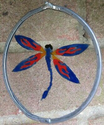 Suncatcher -  Tribal Bright Dragonfly  - Handmade And Hand Painted • 8£