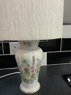 Table Lamp - Aynsley Fine Bone China, Wild Tudor - Large.  Immaculate Condition • 20£