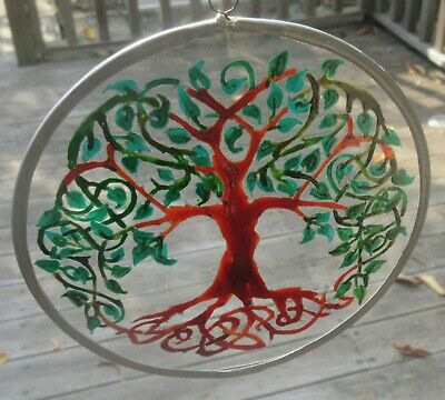 Suncatcher - Tree Of Life - Hand Made And Painted • 18£