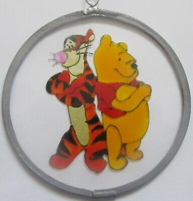 Suncatcher - Winnie The Pooh And Tigger - Handmade And Hand Painted • 8£