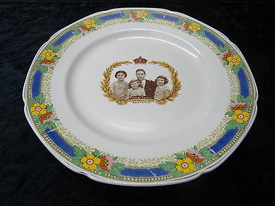 Commemorative Plate George VI 1937 Coronation Plate, Showing The Royal Family • 19.99£