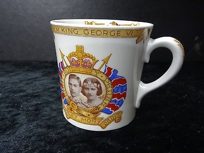 Shelly China Mug - 1937 George VI Coronation With View Of Princess Elizabeth • 24.99£