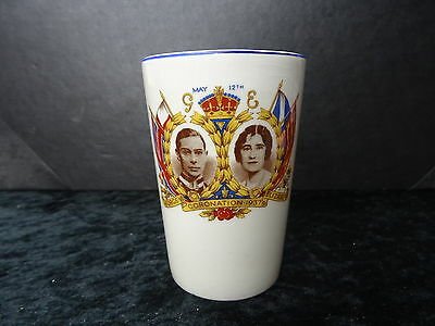 China Commemorative Beaker- George VI 1937 Coronation Showing Princess Elizabeth • 19.99£