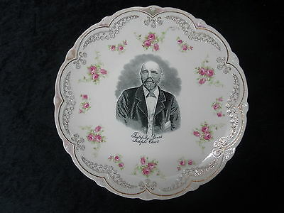 C1890's Commemorative China Plate With Image Of A Joseph Clews. • 24.99£