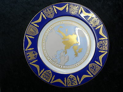 Spode China Plate - 1973 Enlargement Of The EU With England Joining With Box • 149.99£