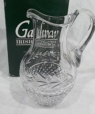 Galway Irish Crystal LEAH Water Pitcher, 1 Litre, 22cm. • 32.21£