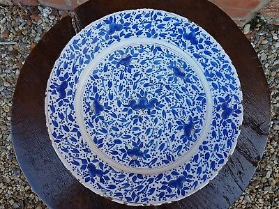 17th Century English Antique Delftware Delft Charger Attr. Pickleherring London • 495£