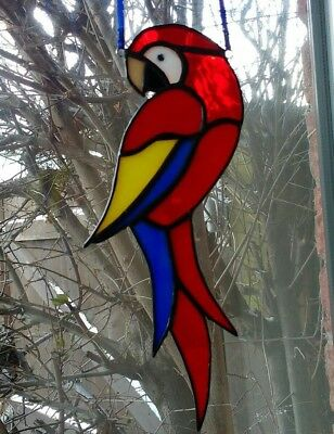 Stained Glass Parrot Suncatcher Handmade By Faith Stained Glass • 19.99£