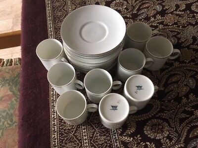 Thomas China Platinum Coffee Cups And Saucers • 50£