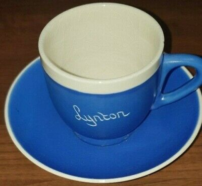 Vintage Devonware Blueware STYLE CUP AND SAUCER - LYNTON • 2£