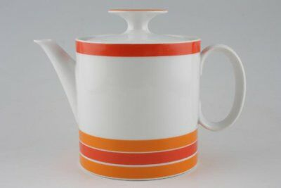 Thomas - White With Red And Orange Bands - Teapot - 66673G • 51.45£