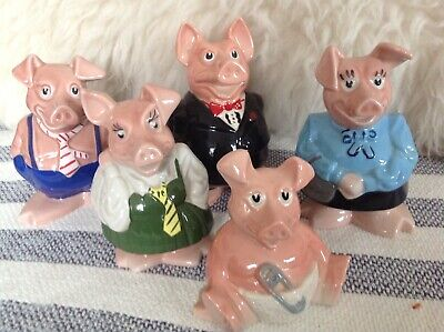 Immaculate, Original Set Of 5 Wade Nat West Pigs - Excellent Condition • 190£