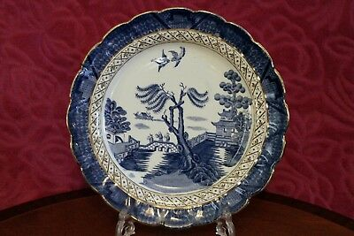 EARLY BOOTHS SILICON CHINA REAL OLD BLUE WILLOW PLATE 26.5 Cm • 12£