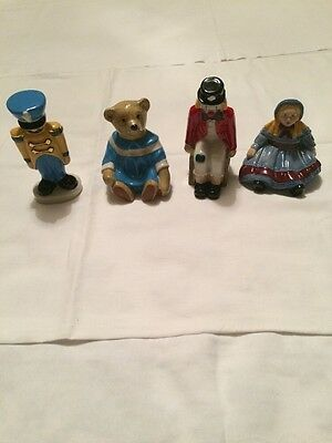 Wade Collectors Club 1998 Toy Soldier,Emily Doll,Amelia Bear & Pickles The Clown • 49.99£