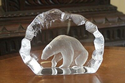 MATS JONASSON Crystal POLAR BEAR In Ice Cave- Signature Collection • 100£