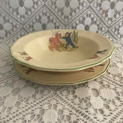 1950s Alfred Meakin Pixie Ware Nursery Bowl And Plate / Rare Find / Pixie Ware • 40£