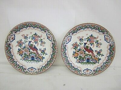 Booths Antique Silicone China 'Old Dutch' Design Plates X 2 - 9.5  Diameter • 14.99£