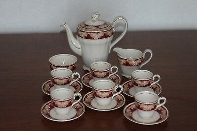 1940s 15 PIECE COFFEE SET BY GRINDLEY • 27.95£
