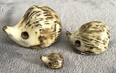 Wightwick Pottery Set Of Three Collectable Hedgehogs • 9.99£